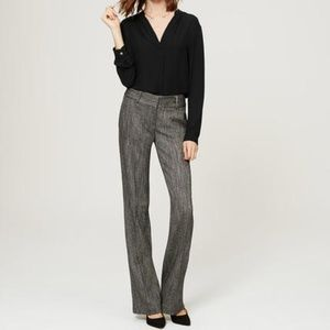 LOFT Petites Herringbone Marisa Trousers Pants